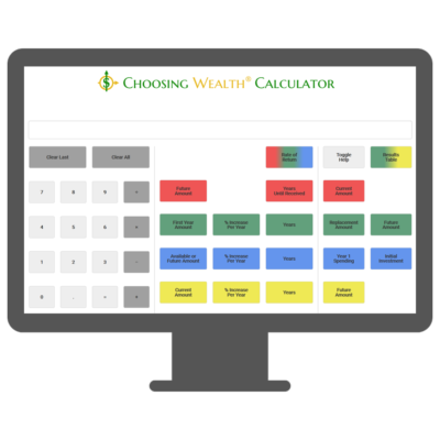 Choosing Wealth® Calculator face