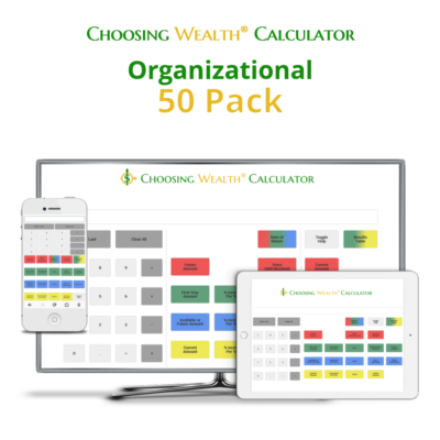 Organizational Choosing Wealth® Calculator product 50pack